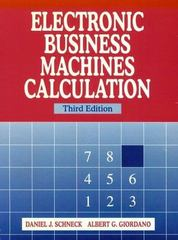 Electronic Business Machines Calculation 3rd Edition 9780135718032 0135718031