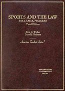 Sports and the Law 3rd edition 9780314146304 031414630X