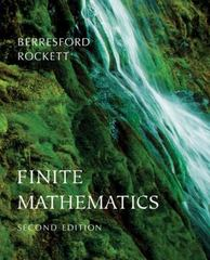 Finite Mathematics 2nd edition 9780618372218 0618372210