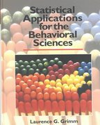 Statistical Applications for the Behavioral Sciences 1st edition 9780471509820 0471509825