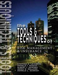 Tools & Techniques of Risk Management & Insurance 0 9780872187016 0872187012