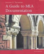 A Guide to MLA Documentation 6th edition 9780618338054 0618338055