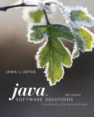 Java Software Solutions 6th edition 9780321532053 0321532058