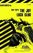CliffsNotes on Tan's The Joy Luck Club 1st edition 9780822006855 0822006855