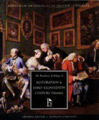 Anthology of Restoration and Early Eighteenth-Century English Drama 1st Edition 9781551112701 1551112701