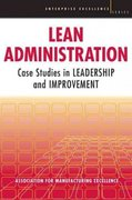 Lean Administration 1st edition 9781563273667 1563273667