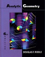 Analytic Geometry 6th edition 9780534948542 0534948545