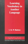 Learning Vocabulary in Another Language 1st Edition 9780521804981 0521804981