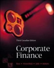 Corporate Finance 3rd edition 9780070897823 0070897824