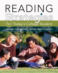 Reading Strategies for Today's College Student 1st edition 9780838457108 083845710X