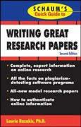 Schaum's Quick Guide to Writing Great Research Papers 2nd edition 9780071511223 0071511229