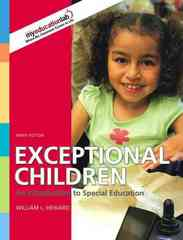 Exceptional Children 9th edition 9780135144367 0135144361
