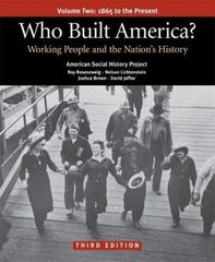 Who Built America? 3rd edition 9780312446925 0312446926