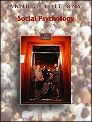 Annual Editions: Social Psychology, 7/e 7th edition 9780073397399 0073397393