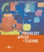 Psychology Applied to Teaching, Tenth Edition 10th edition 9780618192663 0618192662