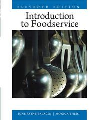 Introduction to Foodservice 11th edition 9780135008201 0135008204
