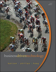 Business Driven Technology 3rd Edition 9780073376745 0073376744