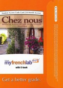 MyFrenchLab with Pearson eText -- Access Card -- for Chez nous: Branché sur le monde francophone (multi semester access) 4th edition 9780205690961 0205690963