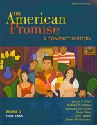 American Promise Compact 4e V2 & Reading the American Past 4e V2 4th edition 9780312618674 0312618670