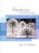 Precalculus: A Unit Circle Approach plus MyMathLab Student Access Kit 1st edition 9780321614643 032161464X