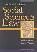 Social Science in Law 1st Edition 9781587789878 1587789876