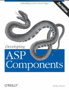 Developing ASP Components 2nd edition 9781565927506 1565927508