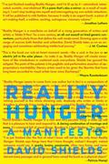 Reality Hunger 1st Edition 9780307273536 0307273539