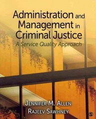 Administration and Management in Criminal Justice 0 9781412950817 1412950813