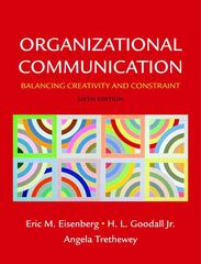 Organizational Communication 6th edition 9780312574864 031257486X