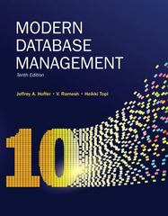 Modern Database Management 10th Edition 9780132998444 0132998440