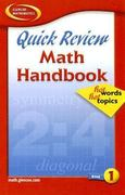 Quick Review Math Handbook: Hot Words, Hot Topics, Book 1, Student Edition 1st edition 9780078600838 0078600839