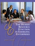 The Human Resource Function in Emerging Enterprises 1st edition 9780030341618 0030341612