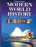Modern World History, Grades 9-12 Patterns of Interaction 1st Edition 9780618377114 0618377115