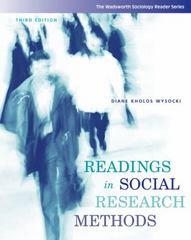 Readings in Social Research Methods 3rd edition 9780495093374 0495093378
