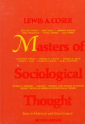 Masters of Sociological Thought 2nd edition 9780155551305 0155551302