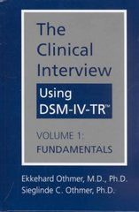 The Clinical Interview Using DSM-IV-TR 0 9781585620500 1585620505