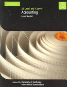 Accounting: As Level and a Level 0 9780521539937 0521539935