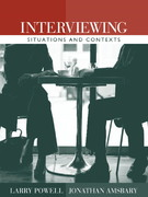 Interviewing 1st edition 9780205401956 0205401953