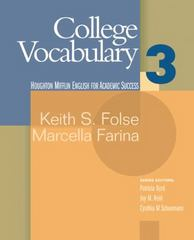College Vocabulary 3 1st Edition 9780618230266 0618230262