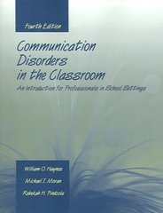 Communication Disorders in the Classroom 4th edition 9780763727437 0763727431