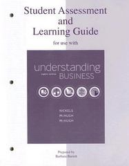 Student Assessment and Learning Guide for Use with Understanding Business 8th edition 9780073106045 0073106046