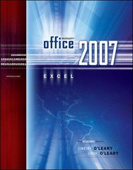 Microsoft Office Excel 2007 Introduction 1st edition 9780073294520 0073294527