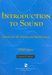 Introduction To Sound 3rd Edition 9781565939790 1565939794