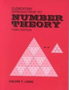 Elementary Introduction to Number Theory 3rd Edition 9780881338362 0881338362
