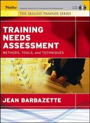 Training Needs Assessment 1st edition 9780787975258 0787975257