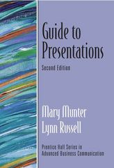 Guide to Presentations (Guide to Business Communication Series) 2nd edition 9780131755239 0131755234