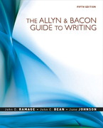 The Allyn & Bacon Guide to Writing 5th edition 9780205598748 0205598749
