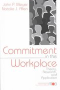Commitment in the Workplace 0 9780761901051 0761901051