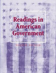 Readings in American Government 4th edition 9780534592691 0534592694