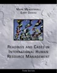 Readings and Cases in International Human Resources Management 3rd edition 9780324006346 0324006349